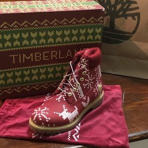 Timberland ugly sweater holiday edition boot